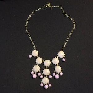 J crew purple bubble necklace